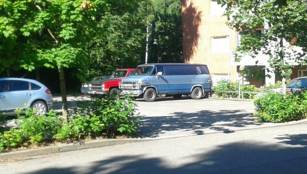 Tämä on ainoa kuva, jonka onnistuimme nappaamaan Lapuan liikkeen käyttämästä autosta